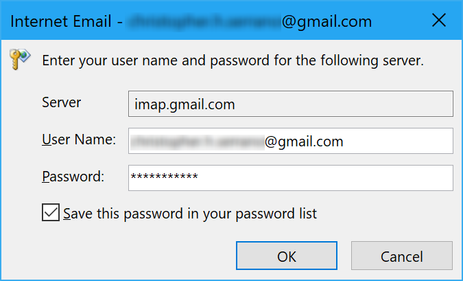 Integration of Google Gmail In Outlook 2016 Through IMAP