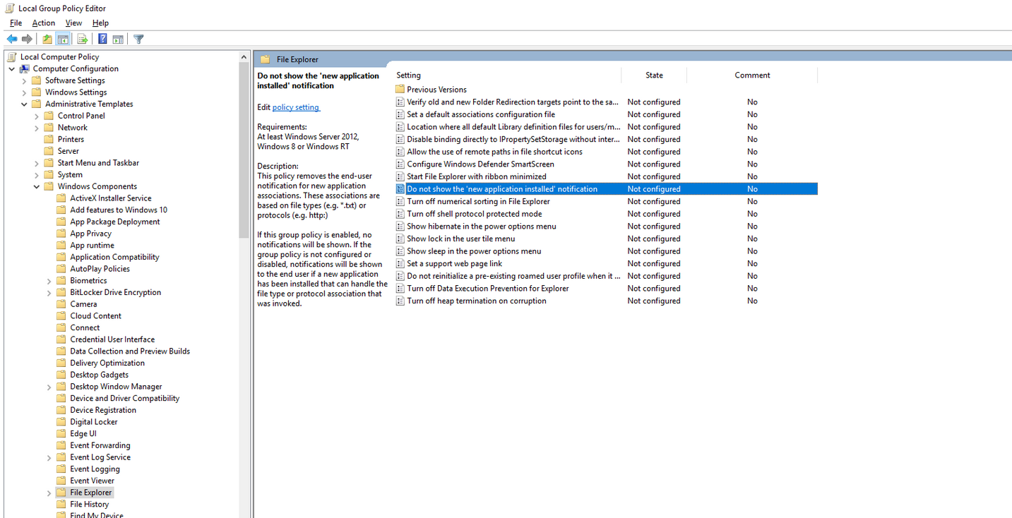 File association window shows up every logon -