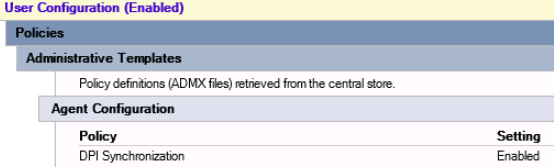 Text size display setting not saving on vMware non