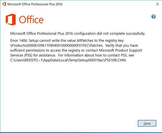 Microsoft Office 2013 and 2016 DIA Playback error: