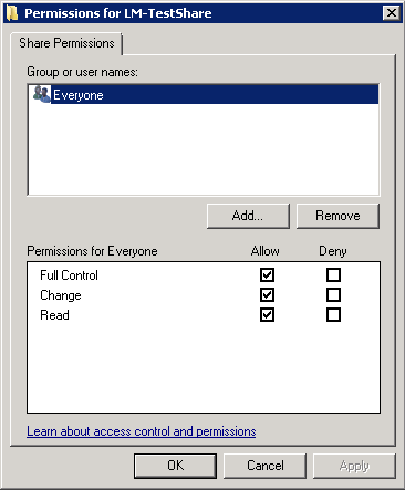 What are necessary NTFS Permissions on user's home directory